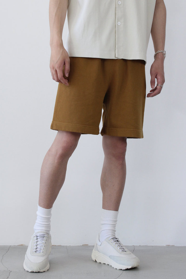 SWEAT SHORT / TOBACCO