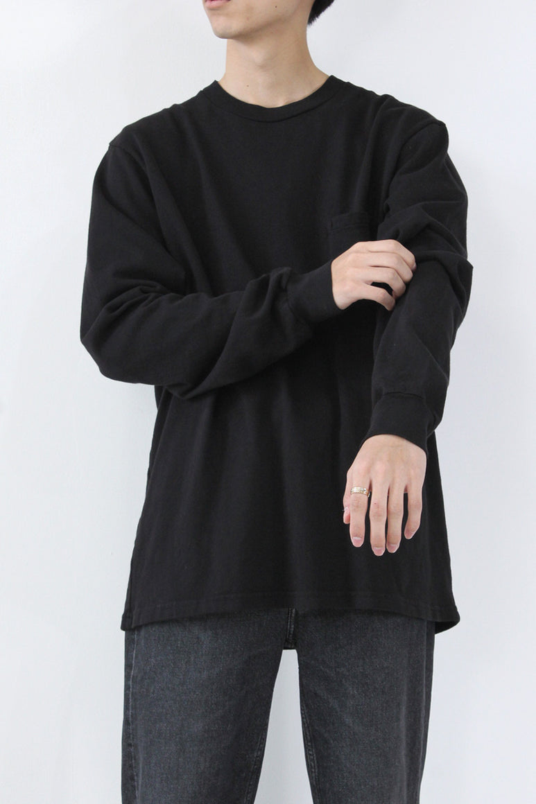 LS POCKET TEE / BLACK