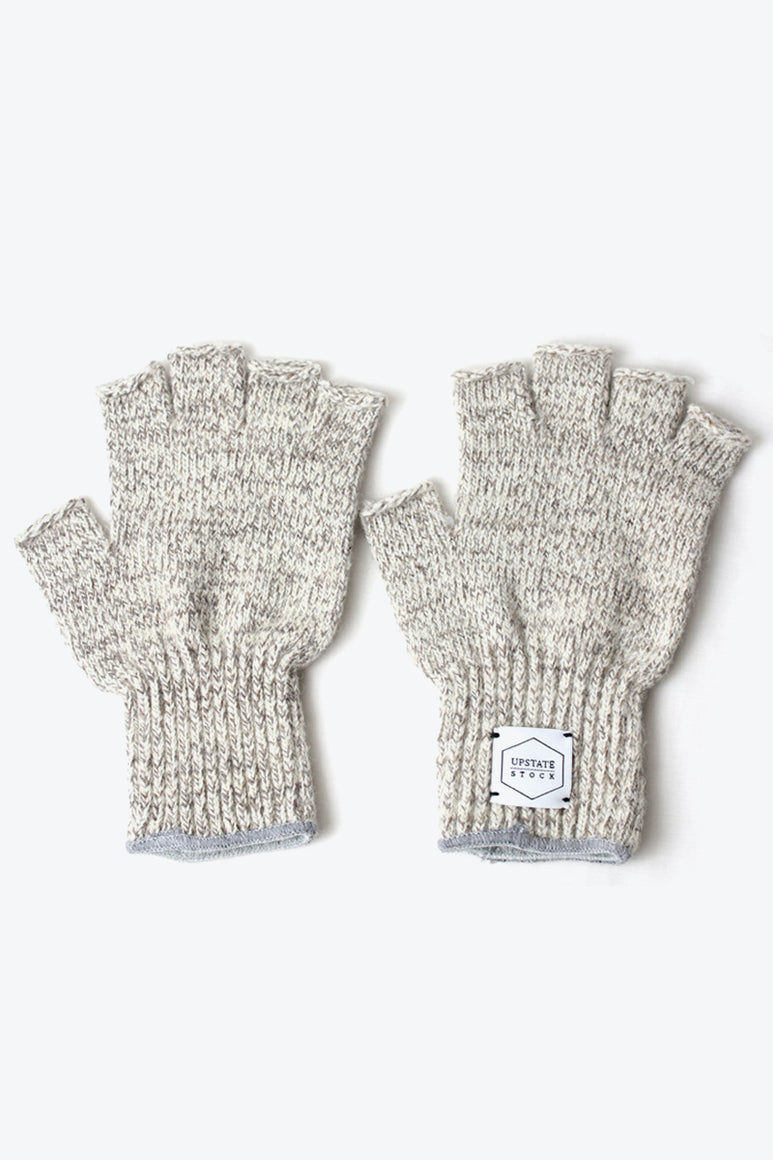FINGERLESS RAGG WOOL GLOVE / OATMEAL MELANGE