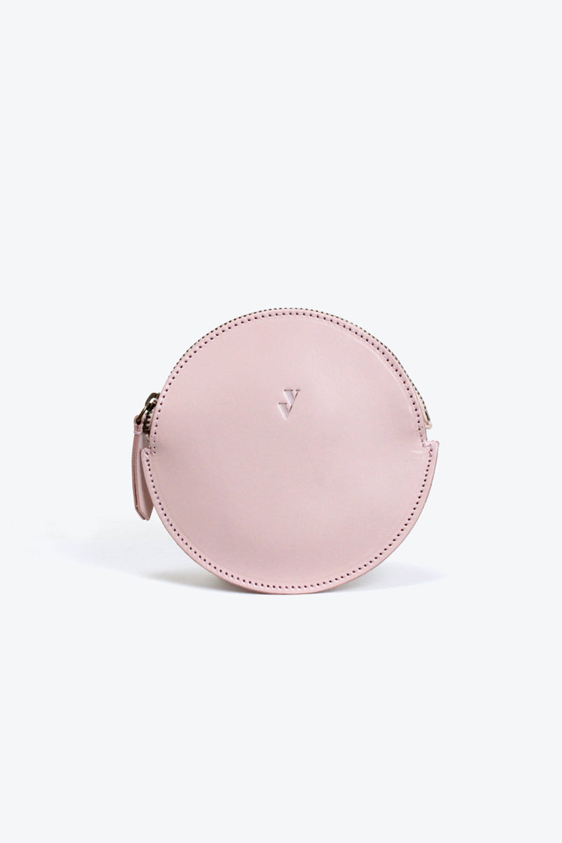 MON LEATHER COIN PURSE / ROSE