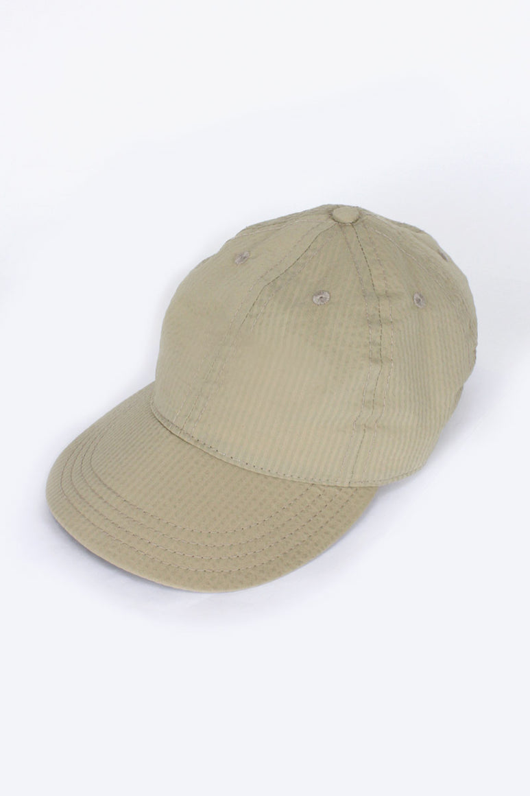 STRETCH FLOPPY BALL CAP / KHAKI SEERSUCKER