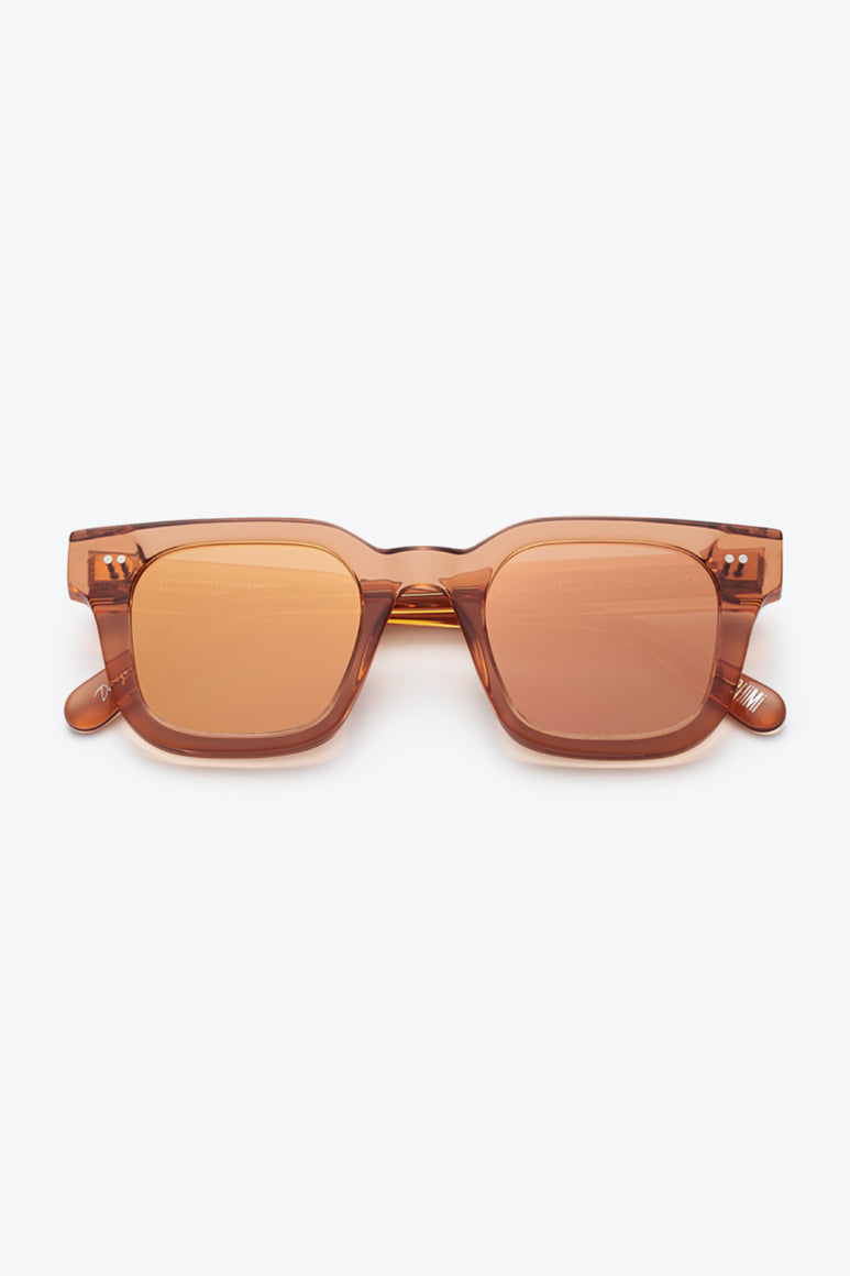 #004 SQUARE SUNGLASSES / PEACH