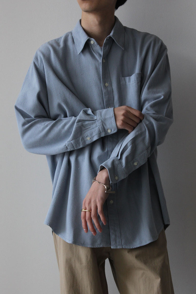 SHIRT NON-BINARY RAW SILK GD / DUSTY BLUE