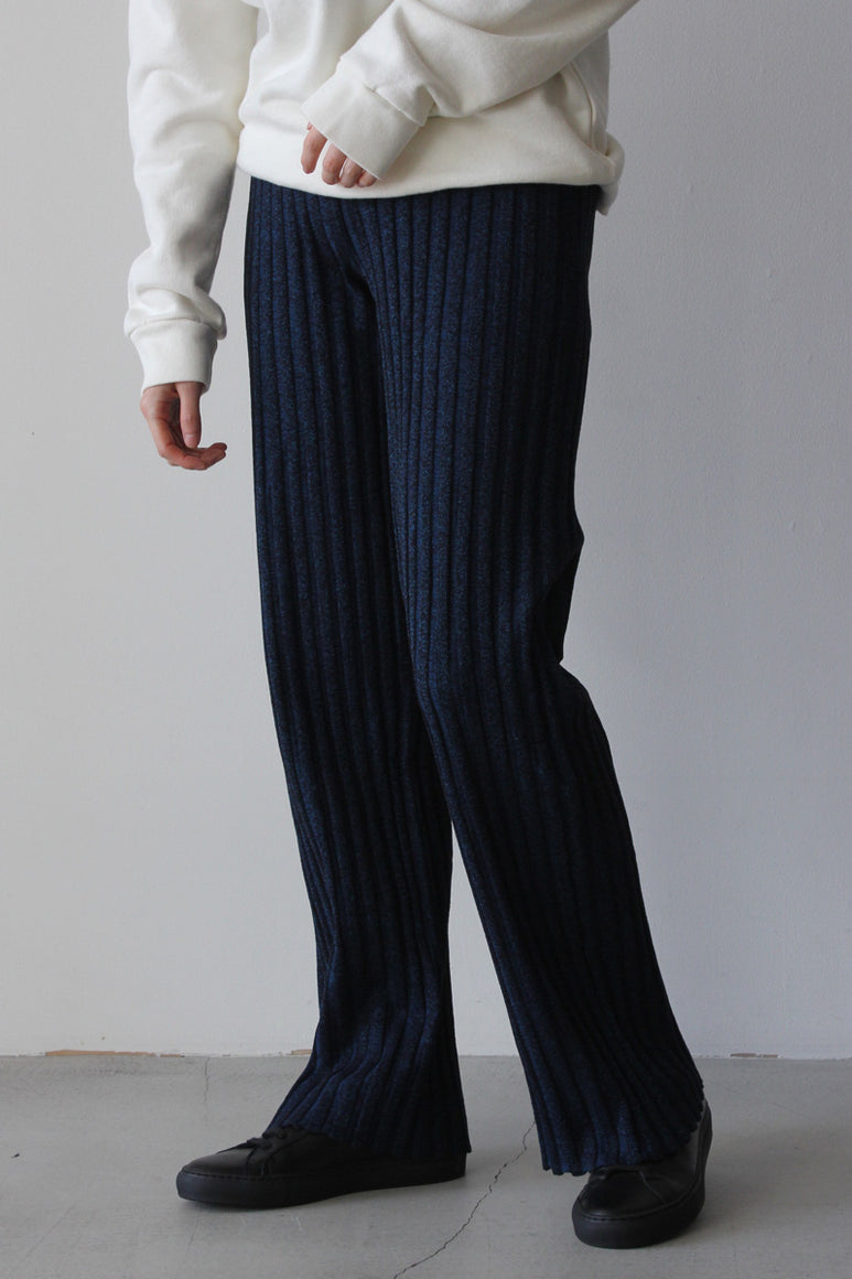 FROM THE RIB KNIT PANTS / BLACK