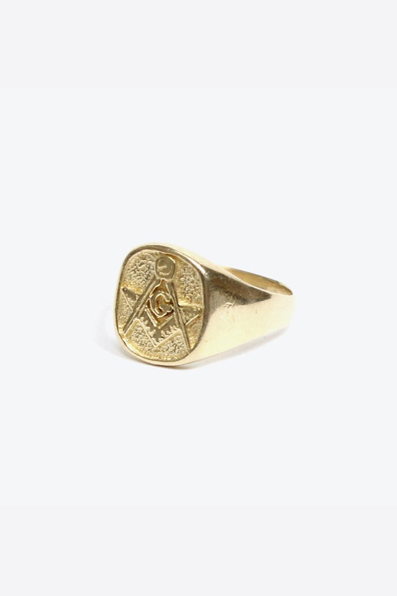 [クーポン対象外商品] 14K GOLD FREEMASON RING 8.42G / GOLD