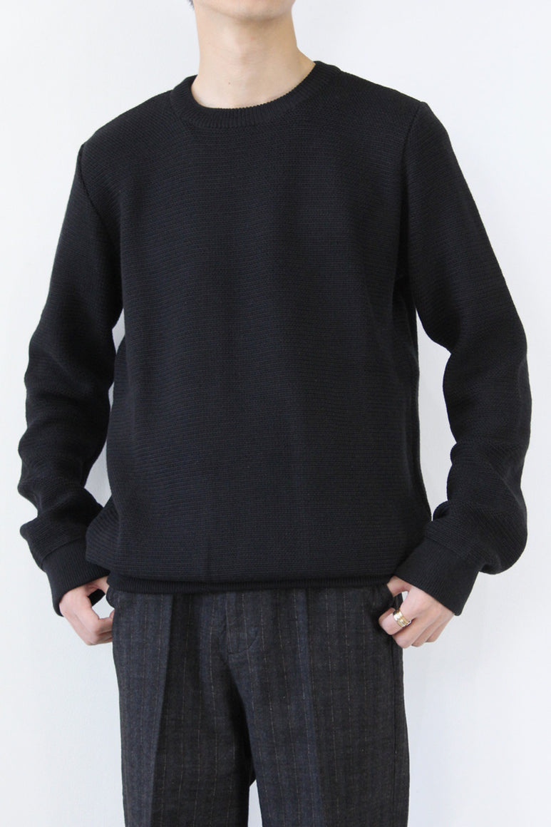 PULL MAILLE D'ARCHIVE / BLACK [30%OFF]