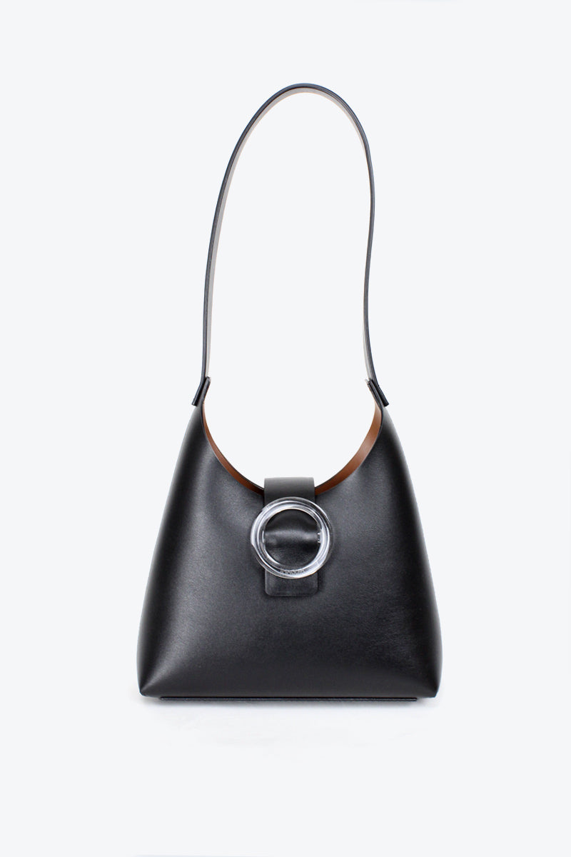 N°44 LUCITE MINI / NOIR LEATHER