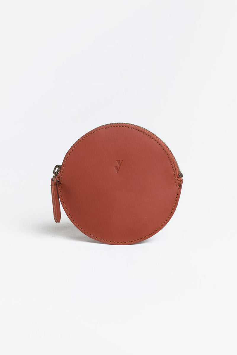 MON LEATHER COIN PURSE / BROWN