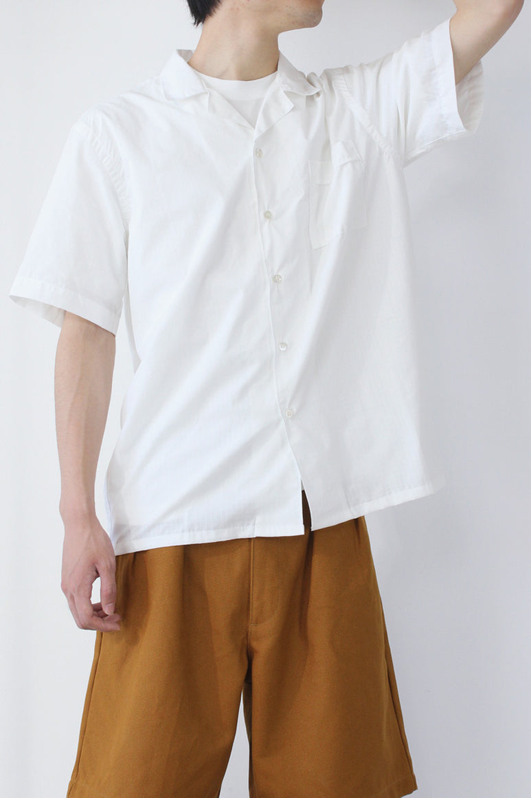 SS SHIRT TWO / WHITE RIPSTOP
