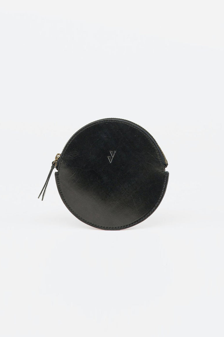 MON LEATHER COIN PURSE / BLACK
