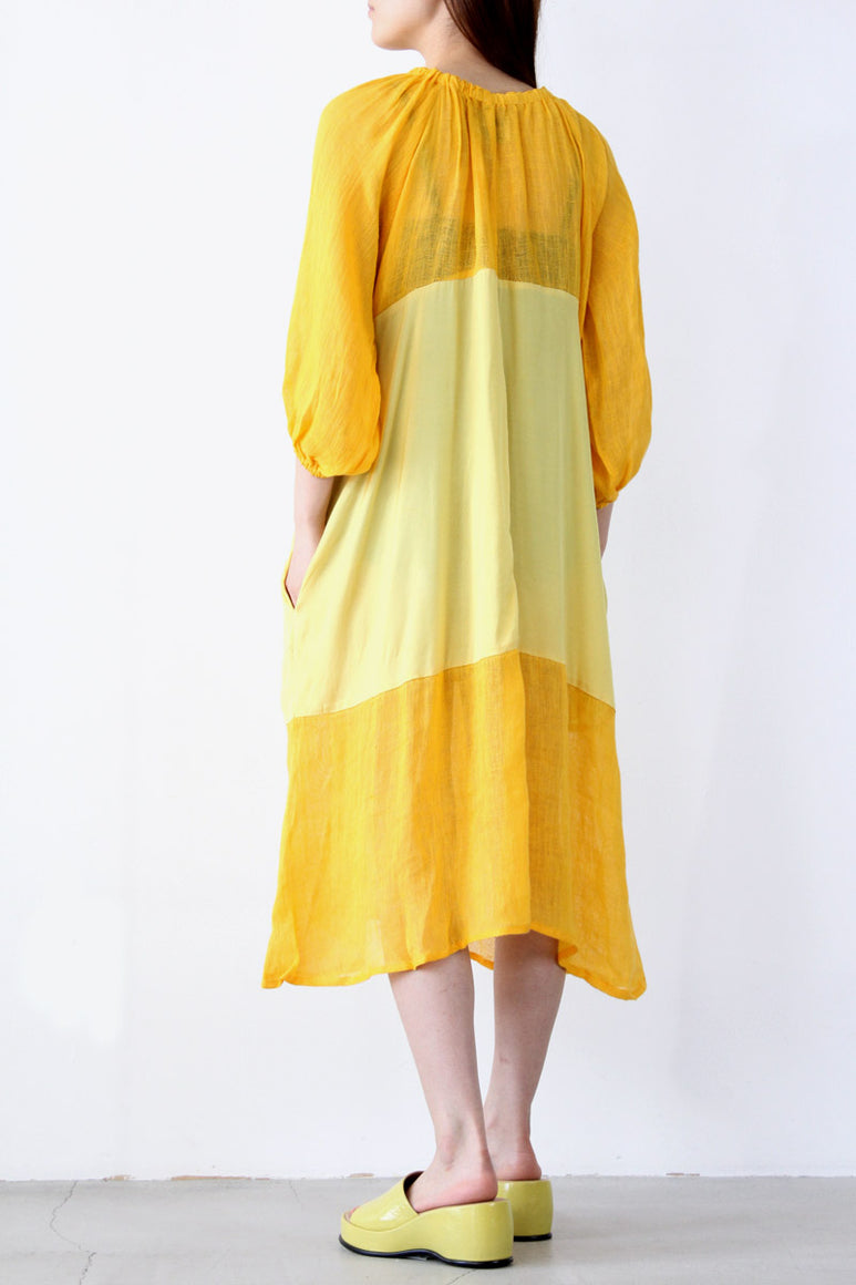 BALLAD DRESS TANGERINE / MAIZE [60%OFF]