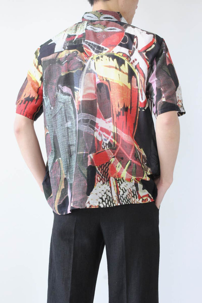 BOX SHORTSLEEVE SHIRT / PEACE CROWD [30%OFF]