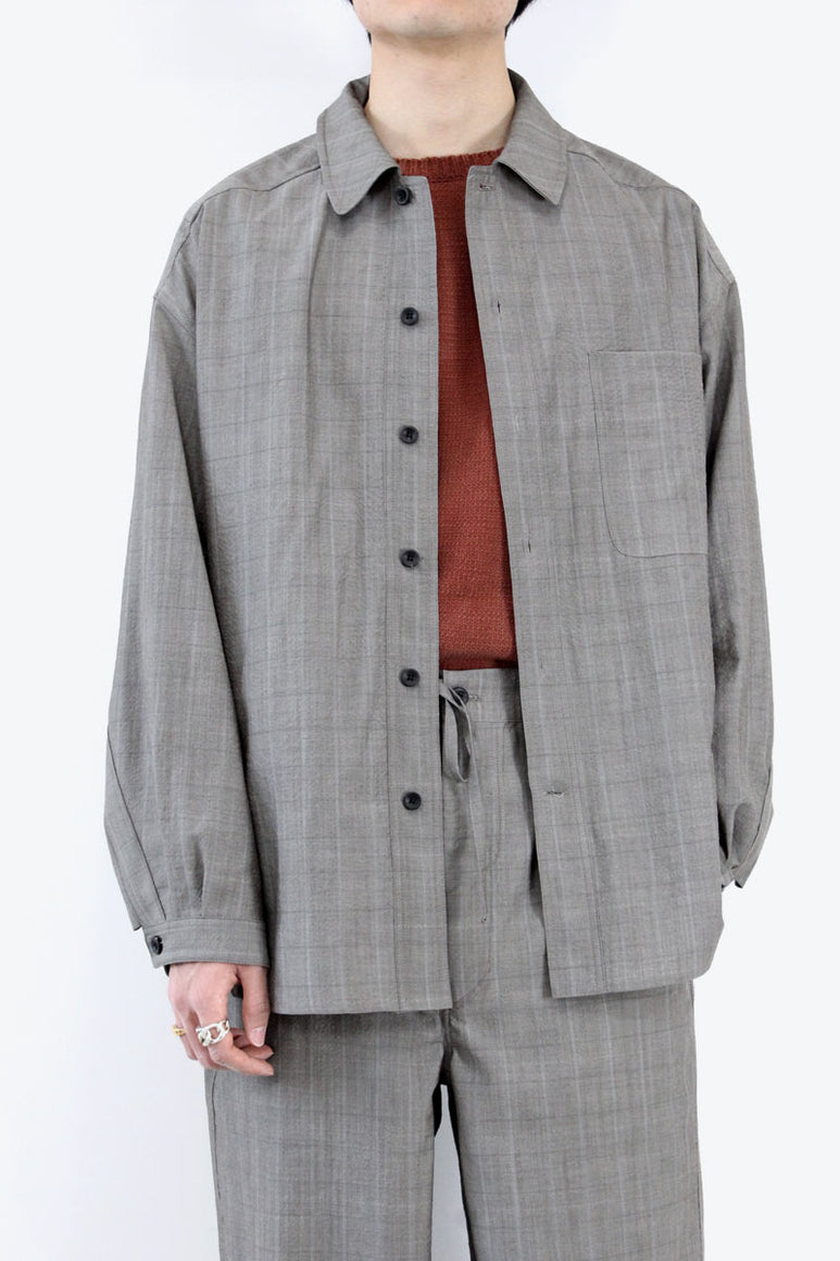WOOL OVER SHIRT / CHECK