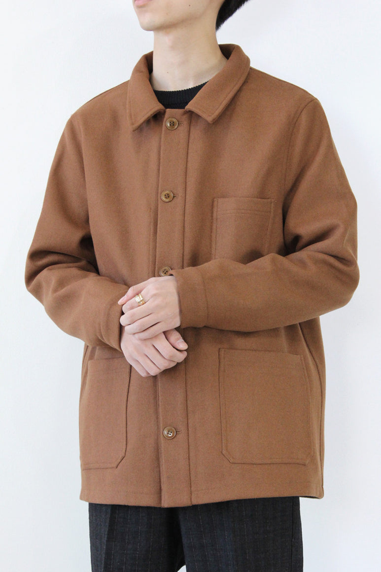 WOOL WORK JACKET / CAMEL