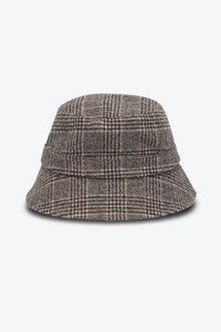 BUCKET WOOL CHECK HAT / BROWN
