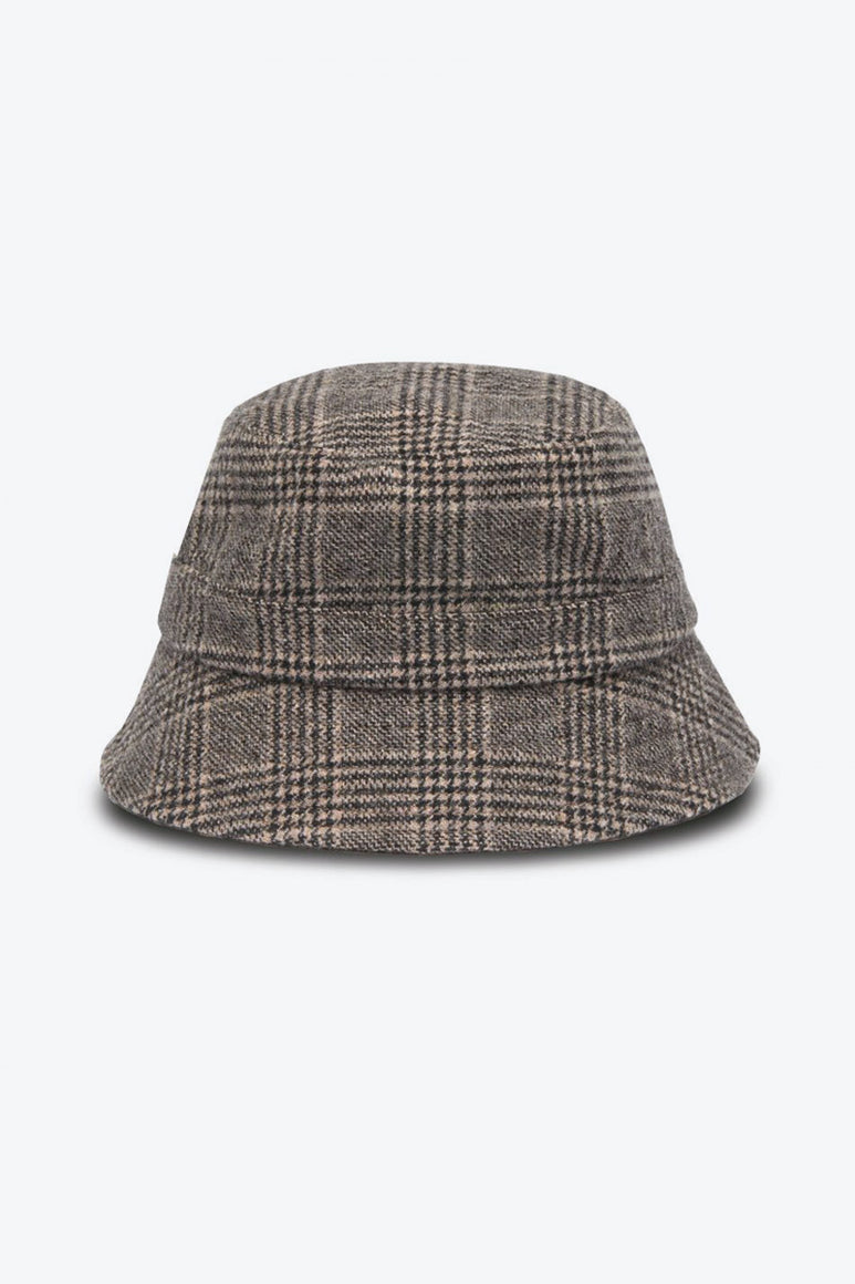 BUCKET WOOL CHECK HAT / BROWN [40%OFF]