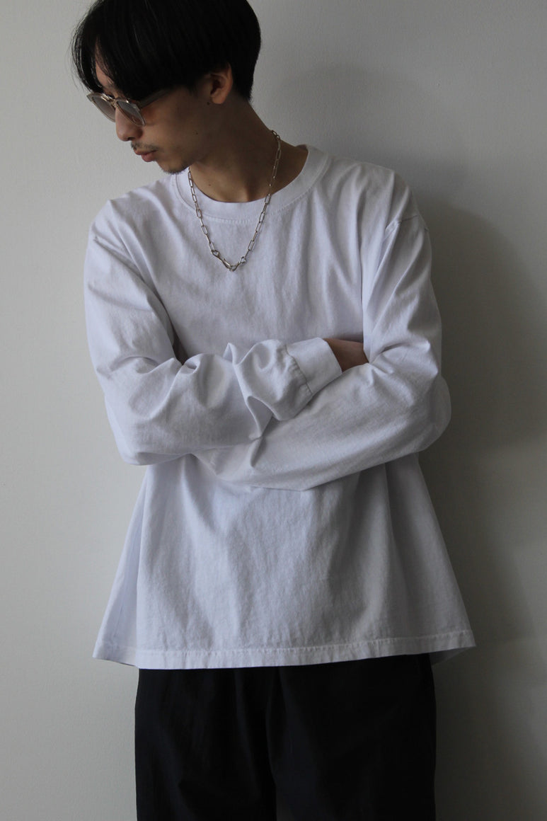 6.5OZ MEDIUM WEIGHT STANDARD L/S T-SHIRT / OPTIC WHITE
