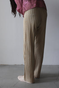 FROM THE RIB KNIT PANTS / BEIGE