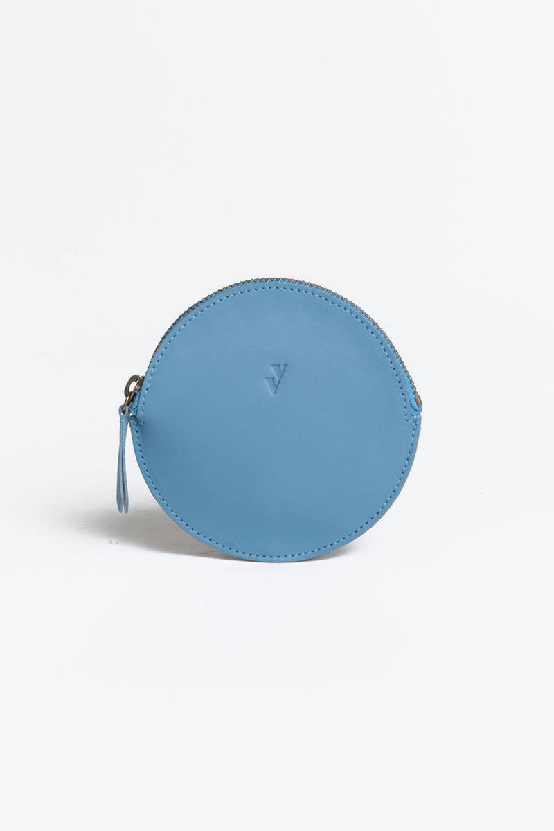 MON LEATHER COIN PURSE / SKY