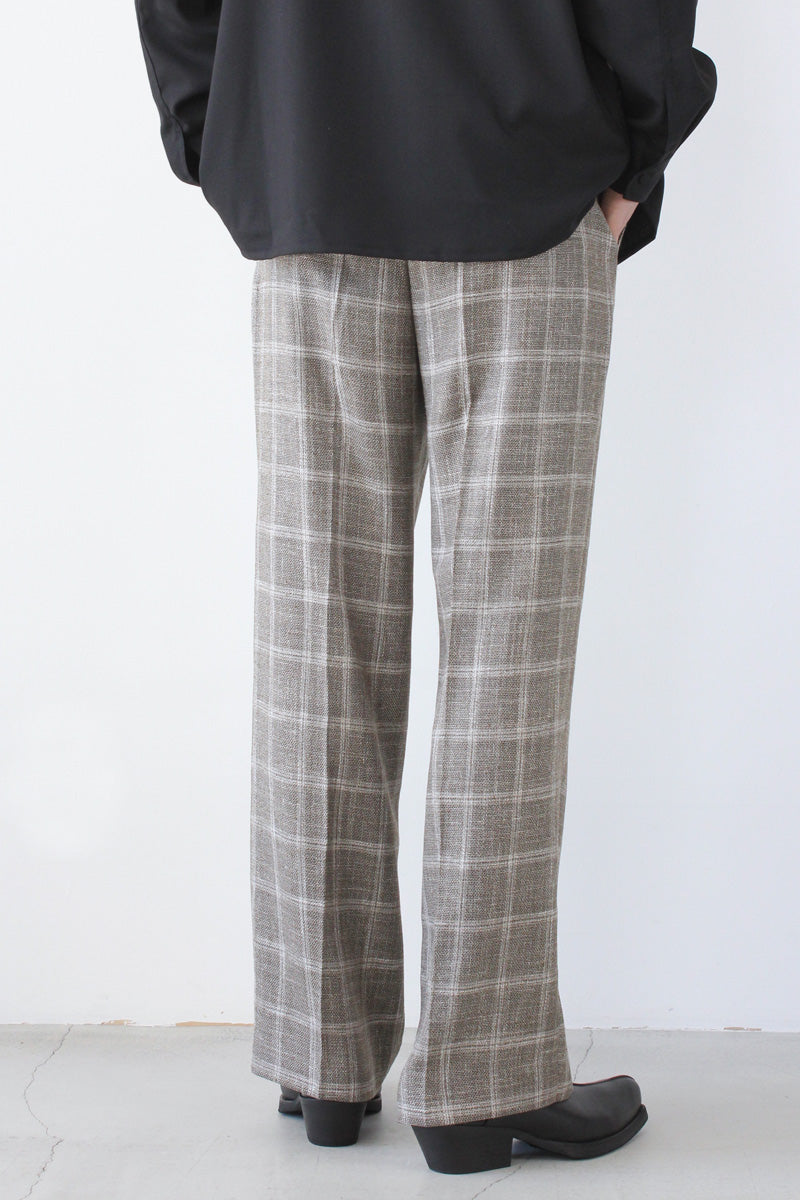 BORROWED CHINO / CHECK WOOL LINEN [20%OFF]