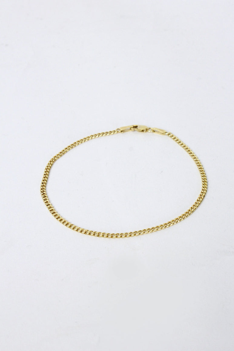 [クーポン対象外商品] MADE IN ITALY 14K GOLD BRACELET 1.6G / GOLD