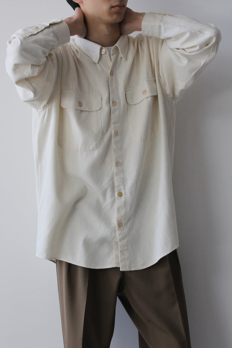 SHIRT BOXY RAW SILK / NATURAL