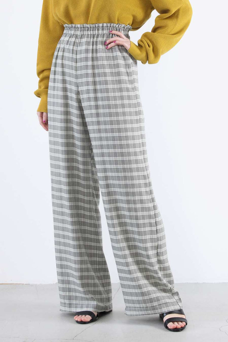 LOUNGE PANT / CREMACHECKS [30%OFF]