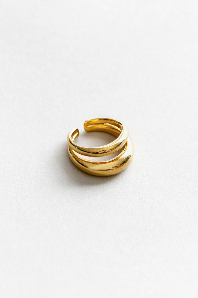 KORI RING / 14K GOLD PLATED