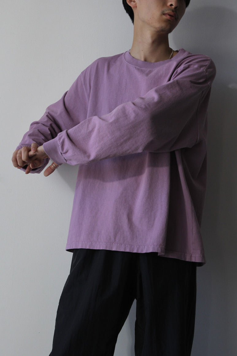 6.5OZ MEDIUM WEIGHT STANDARD L/S T-SHIRT / PURPLE FROST