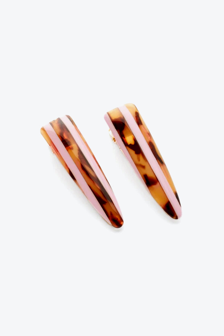 TURIN CLIPS / BROWN/PINK