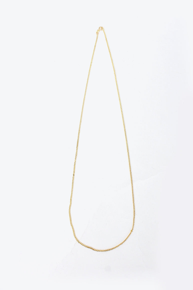 [クーポン対象外商品] MADE IN ITALY 14K GOLD NECKLACE 2.1G / GOLD