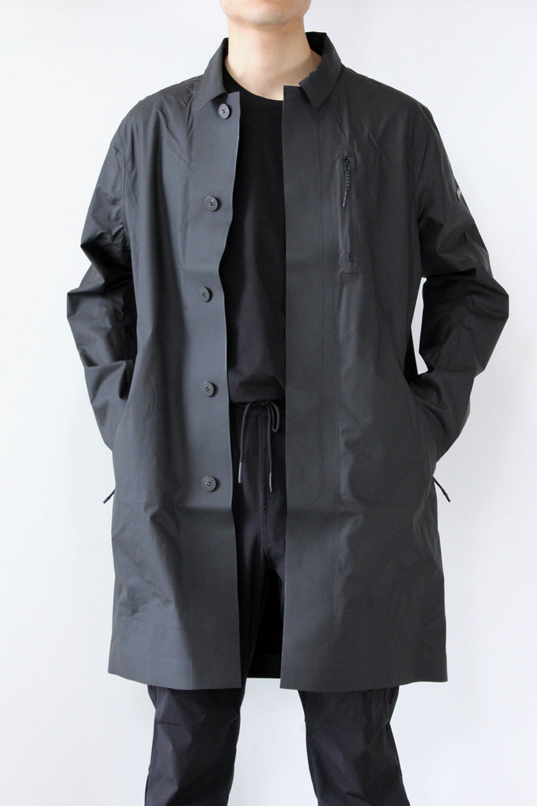 STORM BONDED TRENCH / BLACK  [30%OFF]