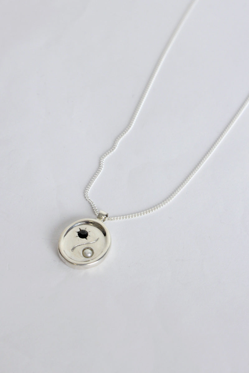 ASTRA NECKLACE w/STERLING SILVER PENDANT / STERLING SILVER CHAIN