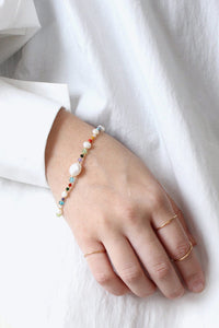 ROCK & SEA BRACELET / 18K GOLD PLATED CHAIN [30%OFF]