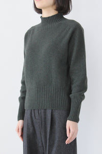 BAYTER CASHWOOL KNITTED JUMPER / OLIVE  [30%OFF]