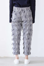 Load image into Gallery viewer, PATCH PANTS / IVORY NAVY FRINGE [50%OFF]