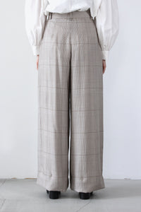 AYA TROUSER / BROWN PLAID