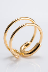 RING NO.481 / 18K GOLD PLATED
