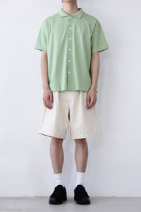 DOUBLE PLEAT SHORTS / NATURAL