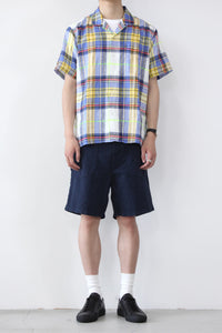 GVCP w/SINGLE POCKET LINEN SHIRT / MADRAS CHECK