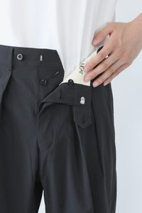 [クーポン対象外商品] URBAN TECH TROUSERS TAPERED / BLACK