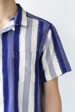 Load image into Gallery viewer, MALICK SHIRT IKAT / STRIPE BLUE [50%OFF]