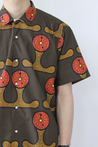 VINTAGE CAMP SHIRT / WATCH PATTERN