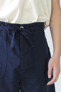 EL GRANJERO SHORT LINEN COTTON / NAVY [50%OFF]