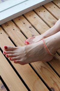 WAVE ANKLET / WHITE SMOKE