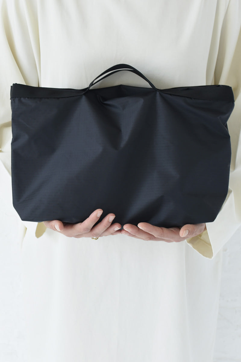 NYLON TOTE 2 WAY SMALL / BLACK