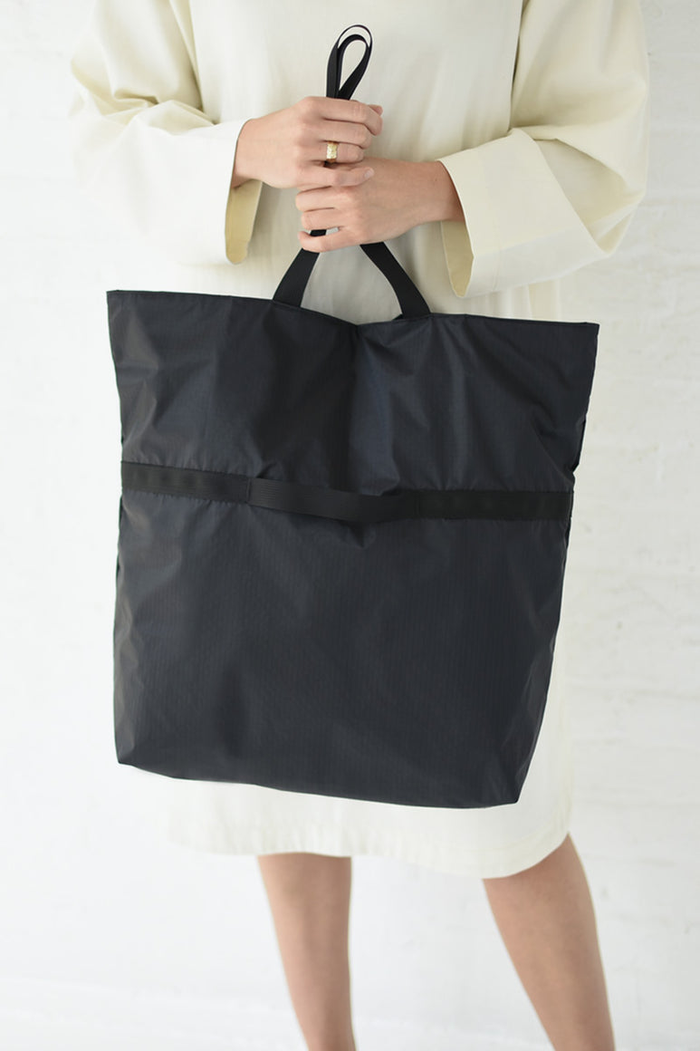 NYLON TOTE 2 WAY MEDIUM / BLACK