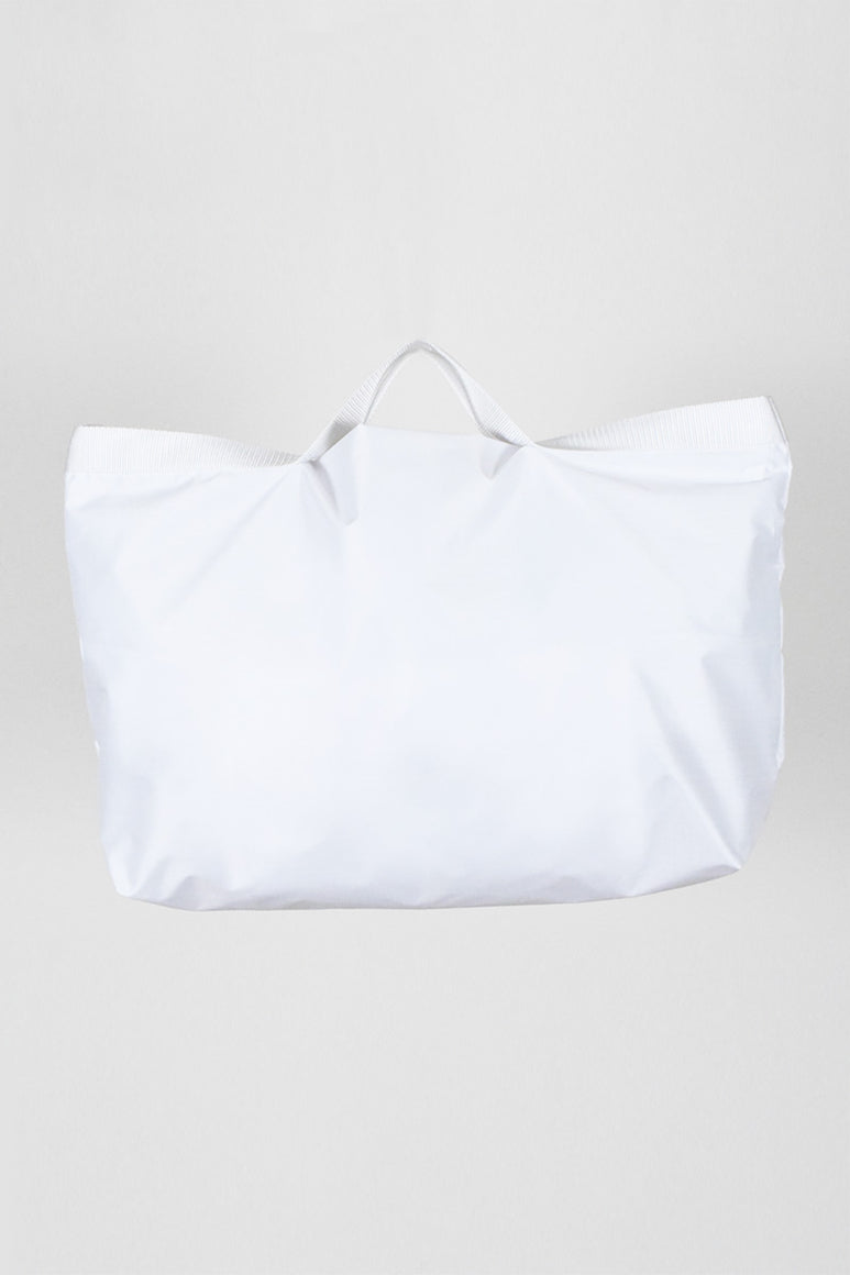 NYLON TOTE 2 WAY MEDIUM / WHITE