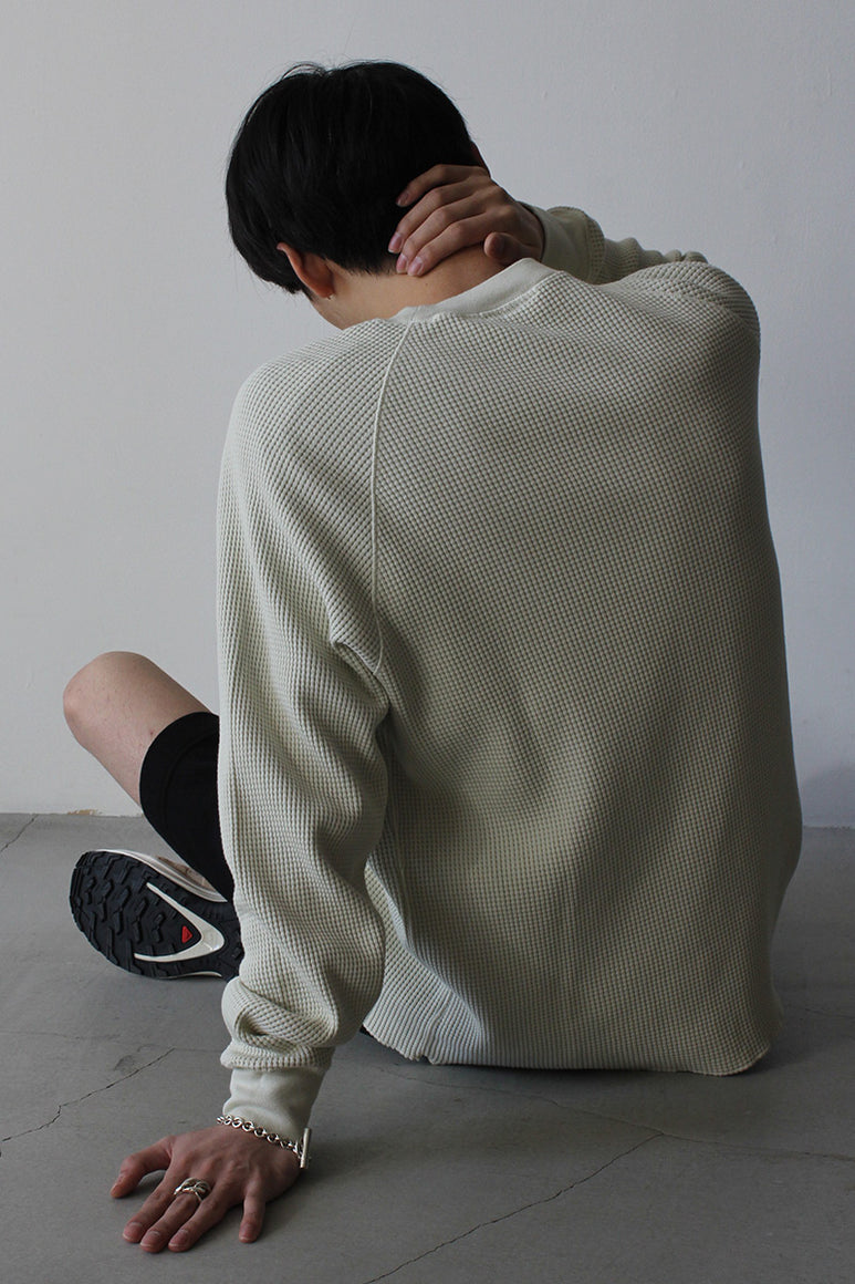 CROPPED RAGLAN THERMAL / BONE
