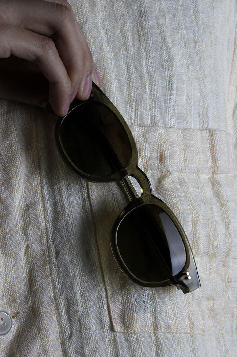01 ROUND SUNGLASSES / GREEN